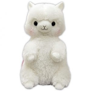 alpacasso white backpack bag pink kawaii amuse plush plushie alpaca furry fuzzy soft cute squishy prize ufo claw crane machine game japan japanese import imported sega furyu taito toreba