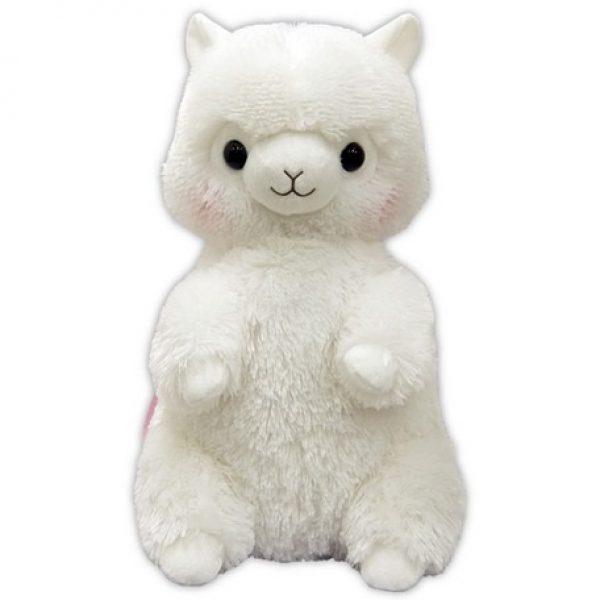 alpacasso white backpack bag pink kawaii amuse plush plushie alpaca furry fuzzy soft cute squishy prize ufo claw crane machine game japan japanese import imported sega furyu taito toreba