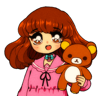 Momoiro Market Mascot Girl with Rilakkuma Bear