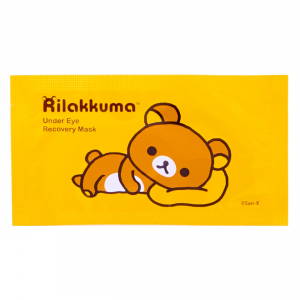 rilakkuma under eye recovery mask treatment rose extract hyaluronix acid skim moisturized brighten dark circles collagen fine lines wrinkles youthful kawaii sanx san-x beauty korean korea japan japanese import