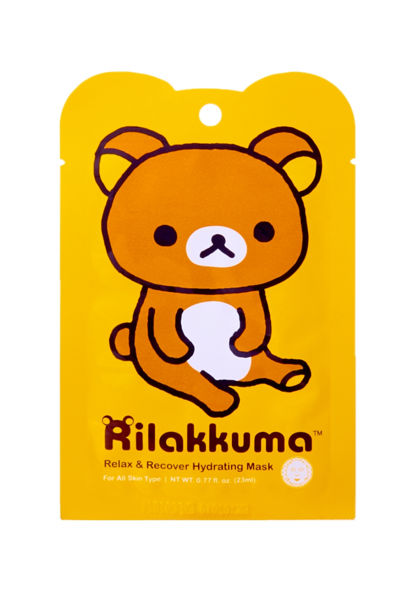 face rilakkuma relax and recover hydrating mask refresh skin plump supple dewy refreshing relaxing hydration revitalize moisture smooth korean beauty korea japan japanese import kawaii cute sanx san-x