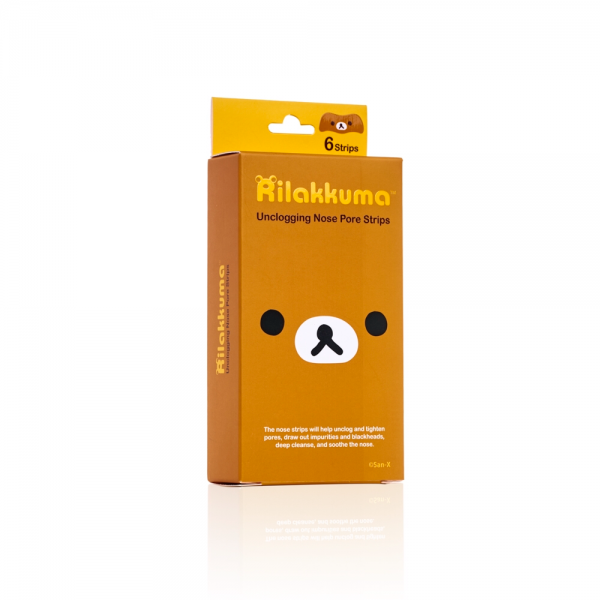 rilakkuma unclogging nose pore strips strip unclog charcoal powder deep cleanse skin blackheads blackhead with hazel pores pore tighten tight oil rose extract soothe kawaii beauty japanese japan korea korean import sanx san-x