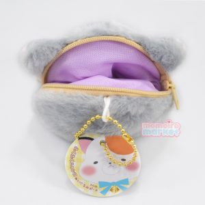 Grey cat coin pouch purse kawaii plush momoiro market japan import