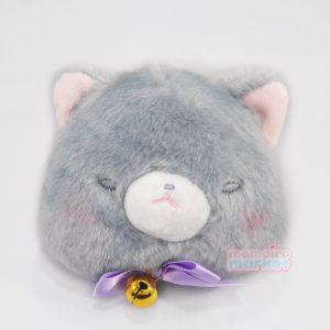 gray grey cat pouch purse neko nekos nyan nyanko nya kawaii japan japanese import imported keychain
