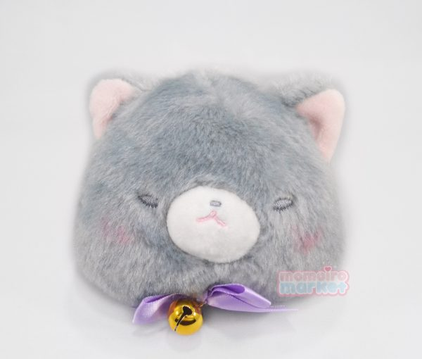 gray grey cat pouch purse neko nekos nyan nyanko nya kawaii japan japanese import imported keychain