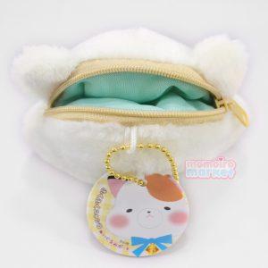 White cat coin pouch purse kawaii plush momoiro market japan import