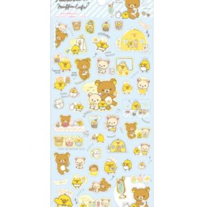 kiiroitori sticker sheet kawaii stationery muffin cafe rilakkuma san-x japan import