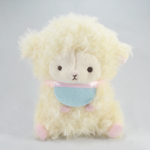 mary baby fuwari yellow sheep amuse keychain japan japanese imported wooly