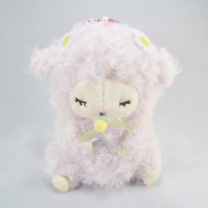 Mary Baby pink sheep amuse kawaii keychain japan import wooly