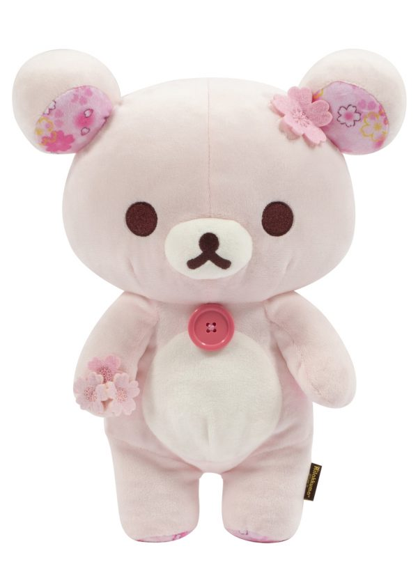 korilakkuma san-x sanx japan japanese plush plushie stuffed toy sakura cherry blossoms blossom flower pink pastel kawaii authentic genuine real