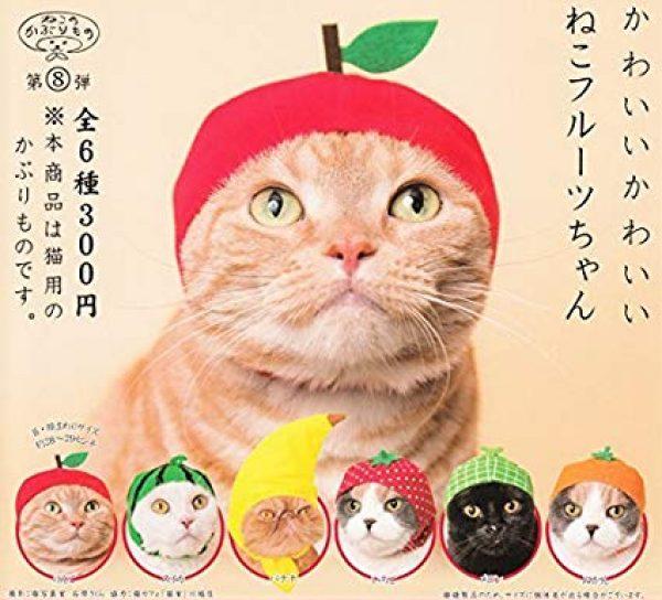 fruit cat cap hat hats caps kitten neko japan japanese imported import kitan club gacha gachapon gashapon gasha