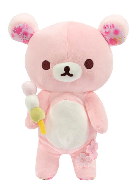 rilakkuma san-x sanx japan japanese plush plushie stuffed toy sakura cherry blossoms blossom flower pink pastel kawaii authentic genuine real