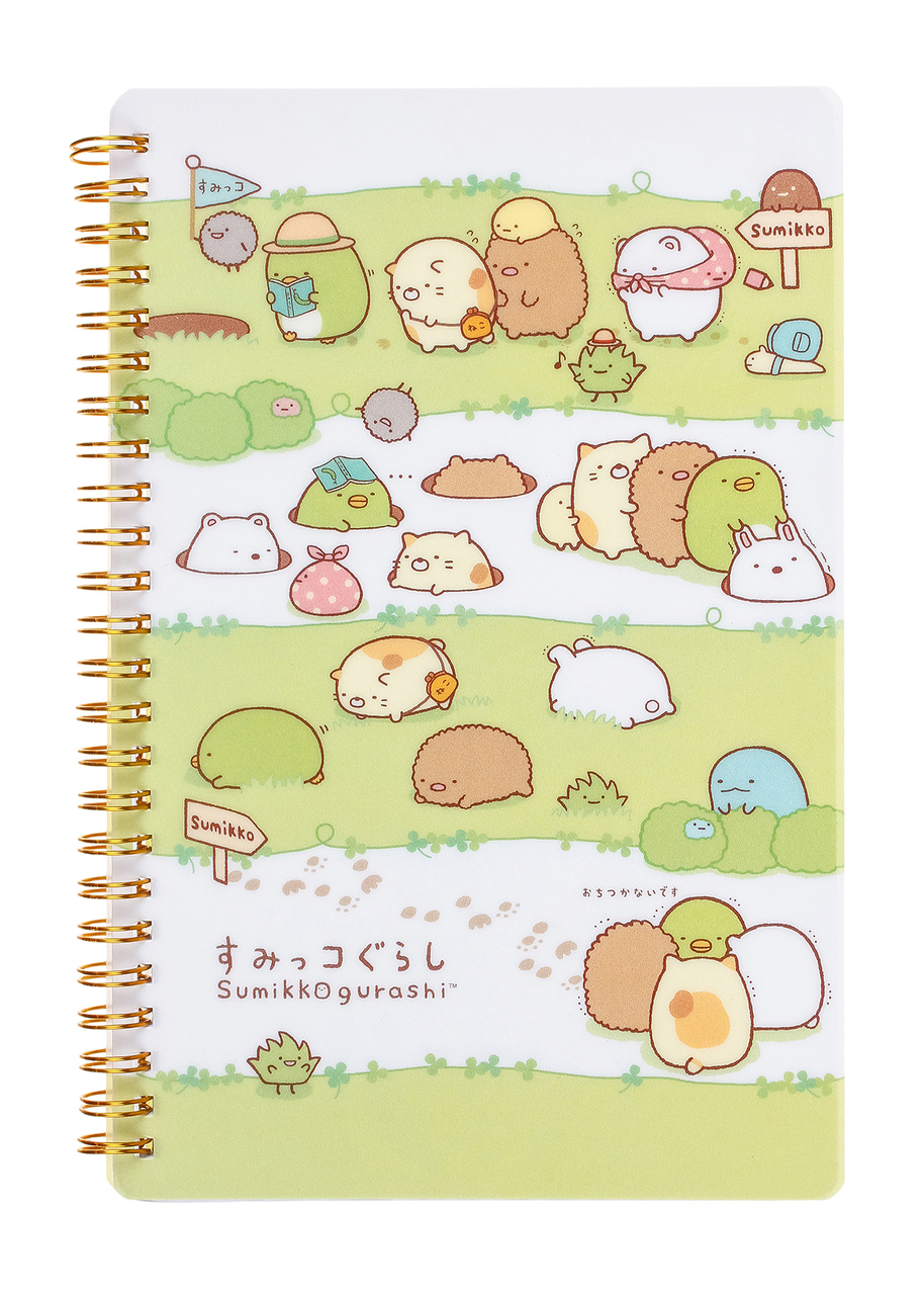 sumikko gurashi tokage neko curry shirokuma notebook diary ringbound ring bound sheet paper pages stationery stationary kawaii cute japan japanese