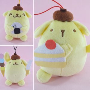 Pompompurin kawaii sanrio friends adorable plush plushie plushies keychain stuffed toy stuff japan japanese import imported crane game ufo toreba catcher claw machine prize