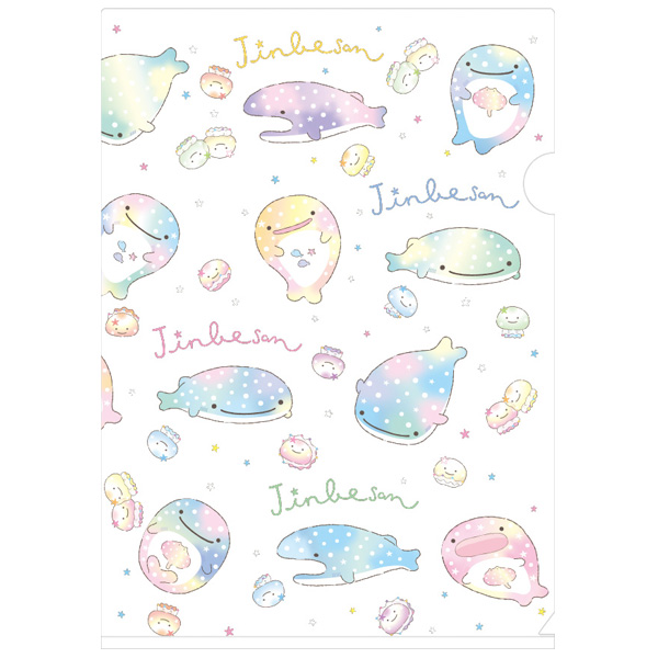 jinbesan jinbeisan jinbe san jinbei san jinbeesan jinbee san sanx san-x whale whaleshark shark blue kawaii ocean file clear folder paper stationery japan japanese import imported jellyfish cute