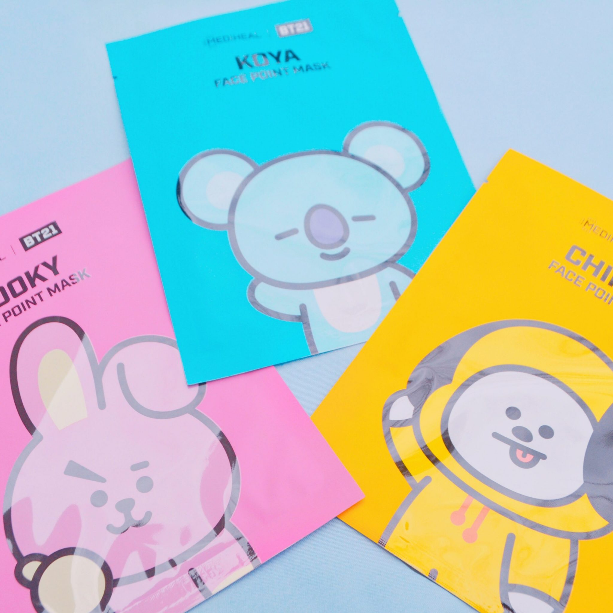 bts bt21 koya chimmy cooky kpop korean beauty korea face point mask skin care skincare