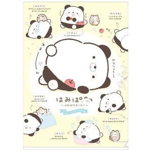 panda hamipa kawaii sanx san-x cute adorable japan japanese folder stationery plush